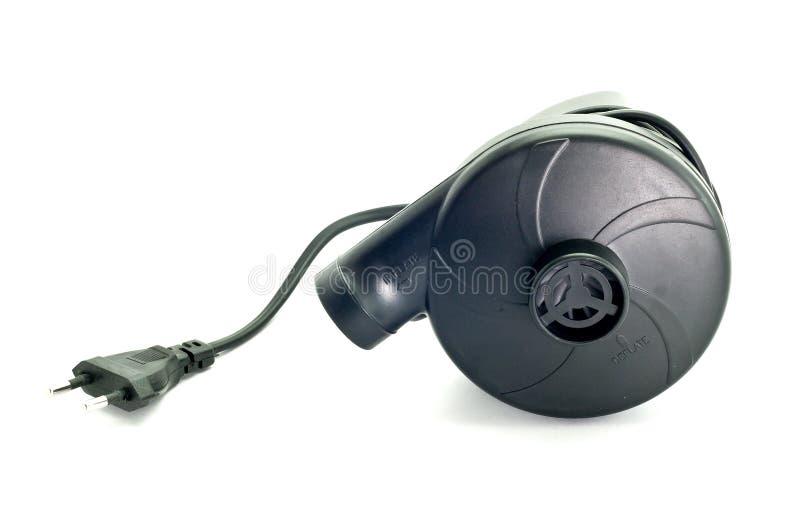 Zwarte ventilators voor opblaasbaar poolspeelgoed stock foto's