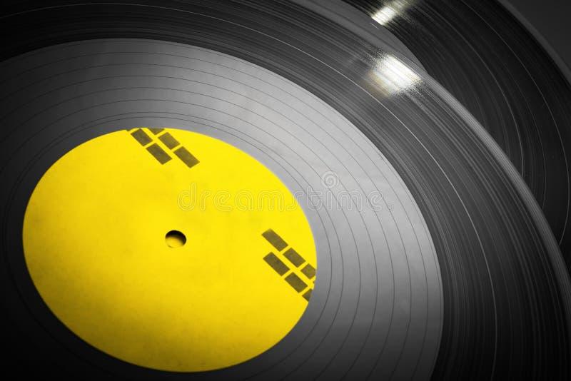 Zwarte vinyl omhoog gestapelde verslagen stock fotografie