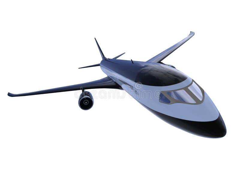 Zwarte vliegtuigen geïsoleerdea mening royalty-vrije illustratie