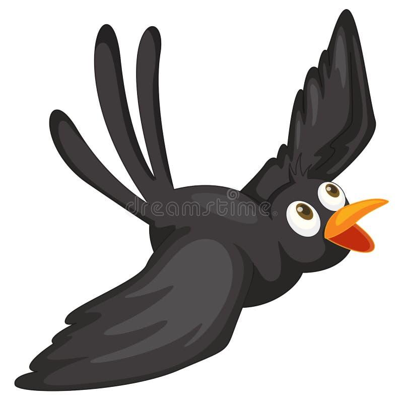 Zwarte vogel vector illustratie