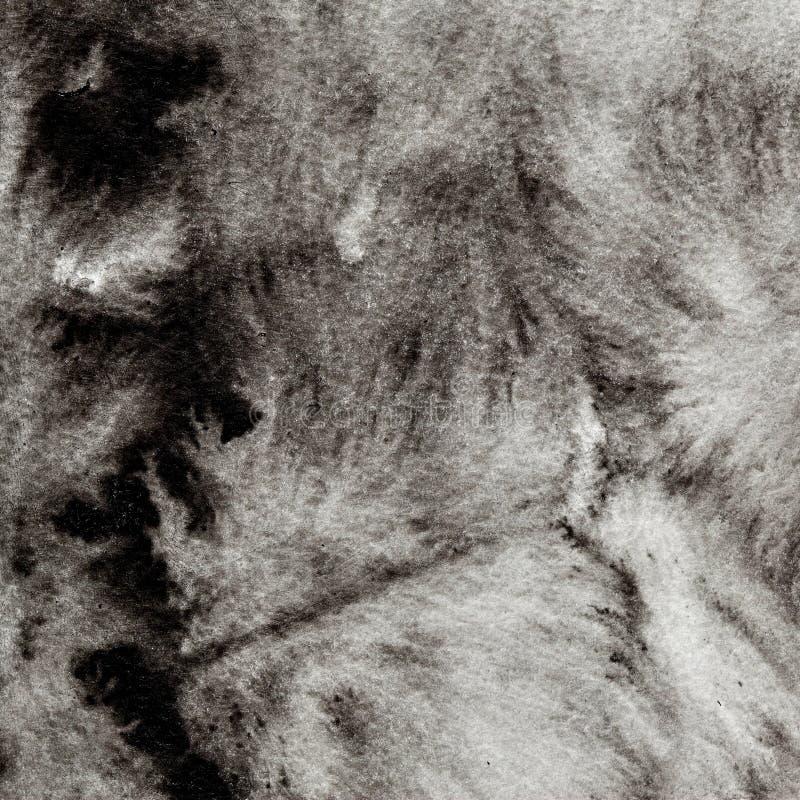 Zwarte vormloze inktvlek royalty-vrije stock afbeeldingen