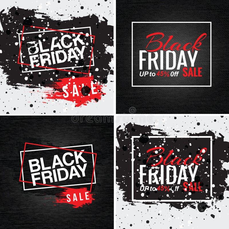 Zwarte vrijdag - instagram stock afbeelding