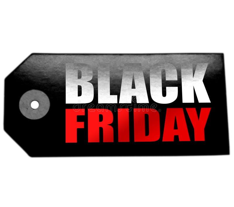 Zwarte vrijdagverkoop op prijskaartje royalty-vrije stock afbeeldingen