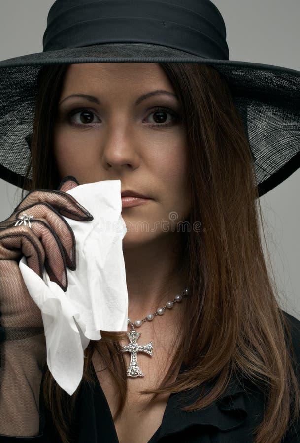Zwarte weduwe stock afbeelding