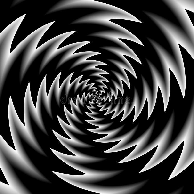 Zwarte witte optische illusie vector illustratie