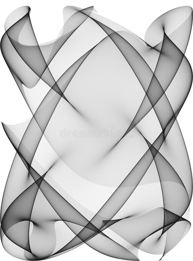 Zwarte Witte Textuur 3 van Lijnen stock illustratie