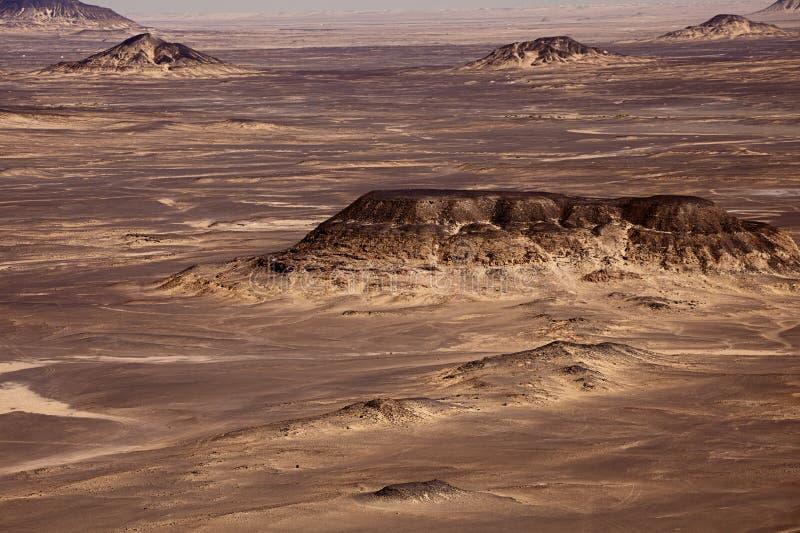 Zwarte Woestijn in de Sahara, westelijk Egypte royalty-vrije stock fotografie