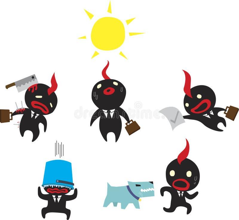 Zwarte Zakenman royalty-vrije illustratie