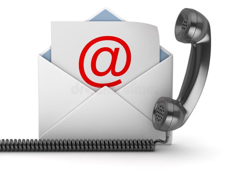 Zwarte Zaktelefoon en Envelop stock illustratie