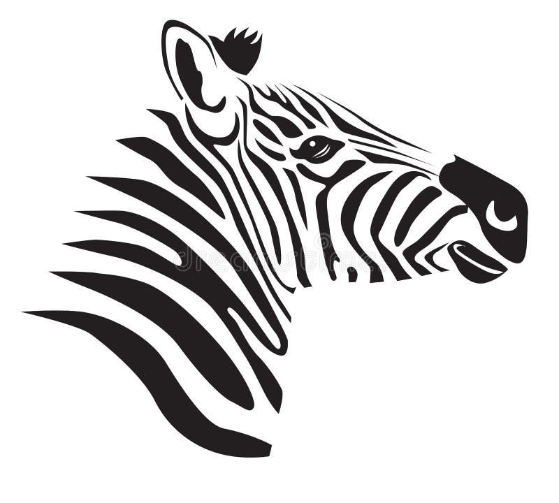 Zwarte zebra royalty-vrije illustratie