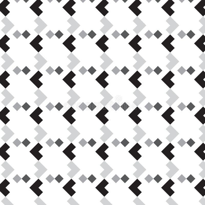 Zwarte zilveren l-vorm met kleine de lijst gestreepte patt van de diamantvorm royalty-vrije stock fotografie