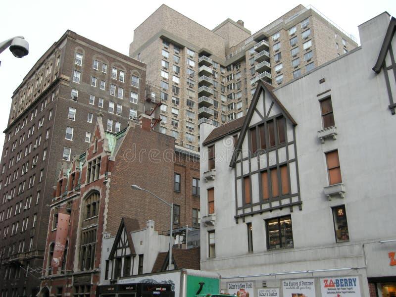 Zwarty grono budynki Miasto Nowy Jork fotografia royalty free