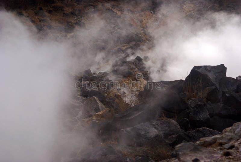 Zwavelachtige damp, Owakudani, Japan royalty-vrije stock foto's