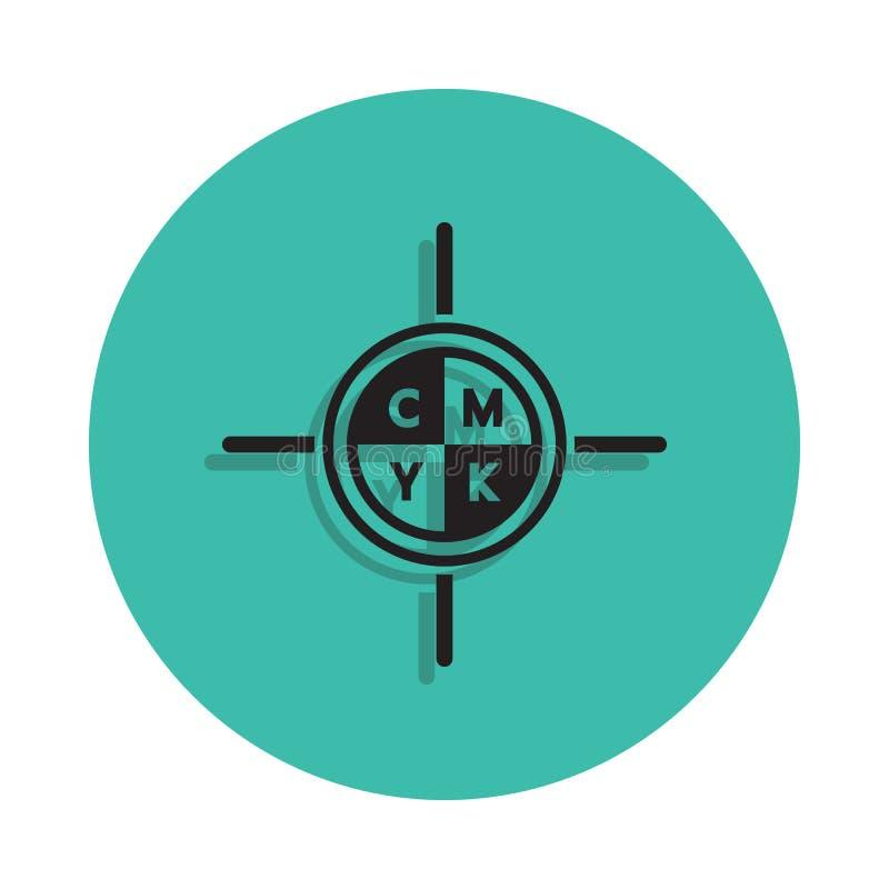 Zweck, Ikone zu drucken Element des Druckhauses für bewegliches Konzept und Netz apps Ikone Dünne Linie Ikone mit Schatten im Aus lizenzfreie abbildung