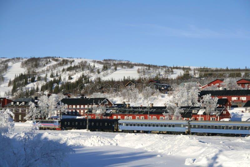 Zweeds dorp stock foto