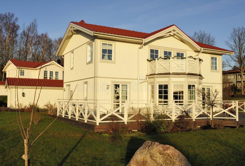 Zweeds middenklassehuis royalty-vrije stock foto