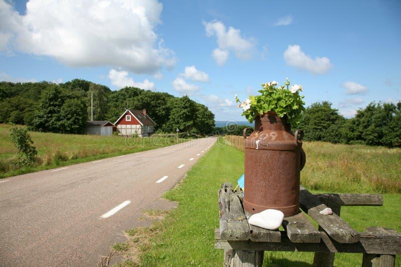 Zweeds platteland stock afbeeldingen