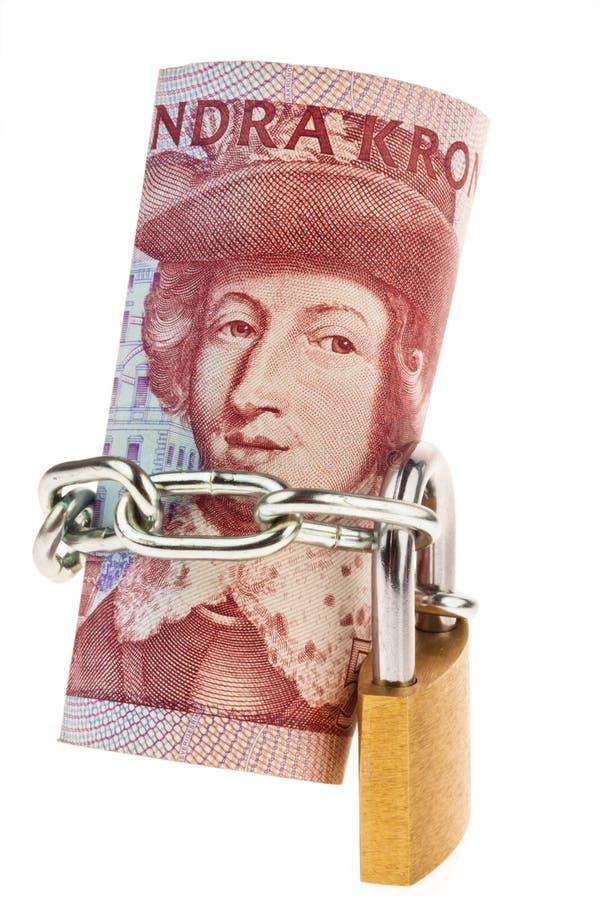 Zweedse kronen. Zweedse munt stock foto's