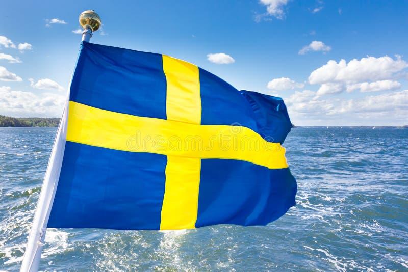 Zweedse nationale vlag royalty-vrije stock fotografie