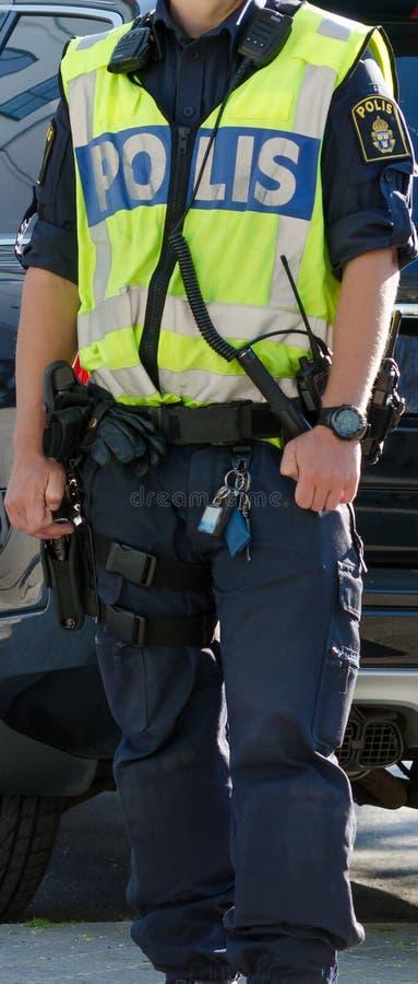 Zweedse politie royalty-vrije stock afbeeldingen