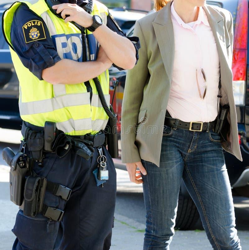 Zweedse politie stock foto