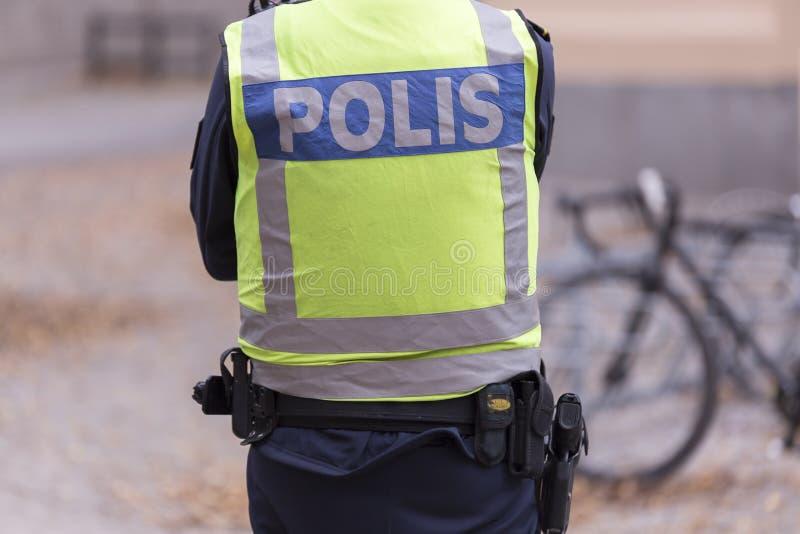 Zweedse politieman royalty-vrije stock foto's