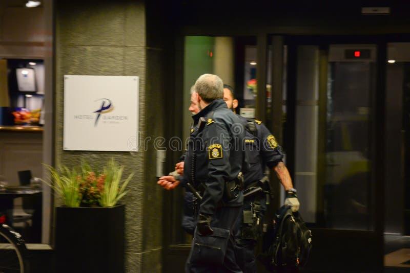 Zweedse politiemannen royalty-vrije stock foto's