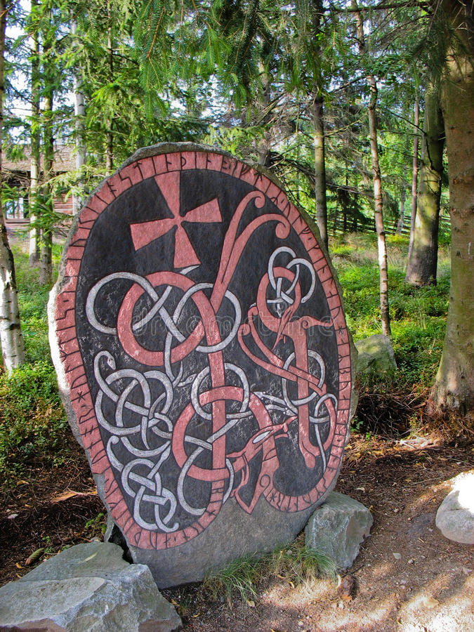 Zweedse rune royalty-vrije stock foto