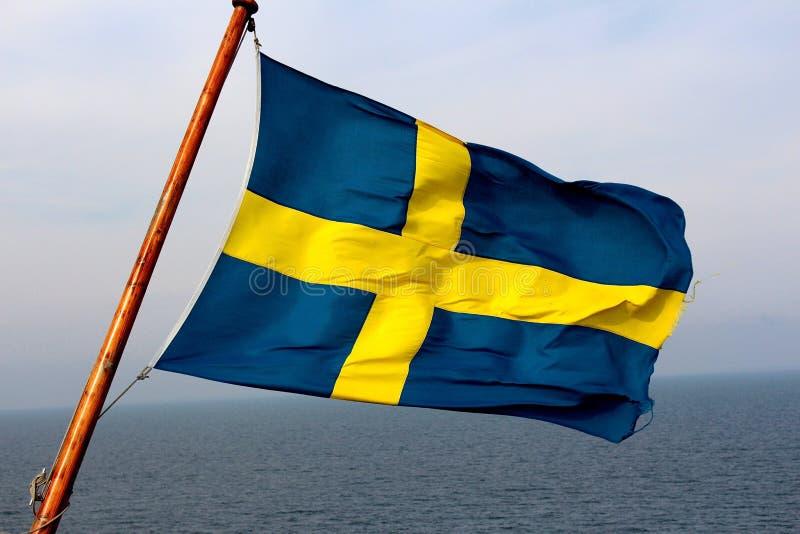 Zweedse vlag stock foto
