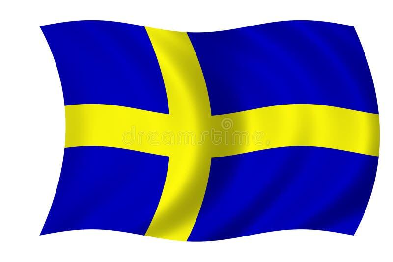 Zweedse vlag stock illustratie