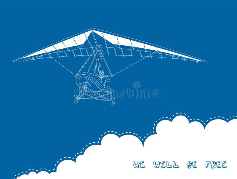 Zweefvliegtuig 4 stock illustratie