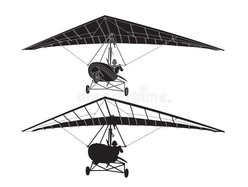Zweefvliegtuig 3 stock illustratie