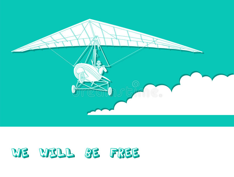 Zweefvliegtuig 4 royalty-vrije illustratie