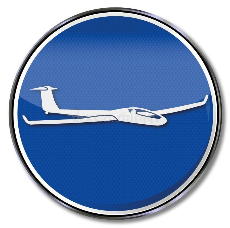 Zweefvliegtuig en vliegtuigen vector illustratie