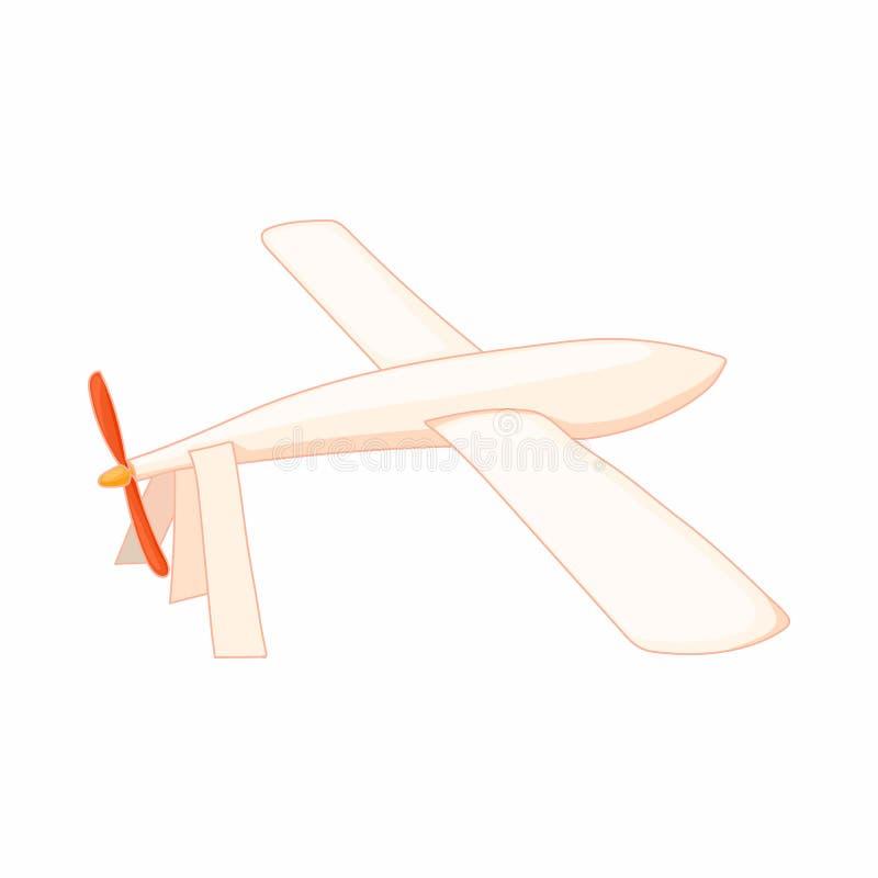 Zweefvliegtuigpictogram in beeldverhaalstijl stock illustratie