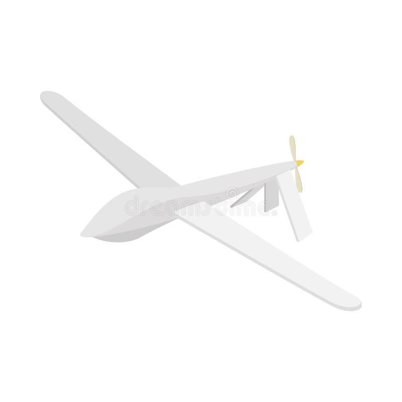 Zweefvliegtuigpictogram, beeldverhaalstijl stock illustratie
