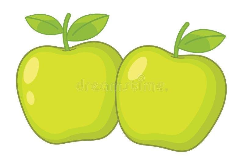 Zwei Äpfel stock abbildung