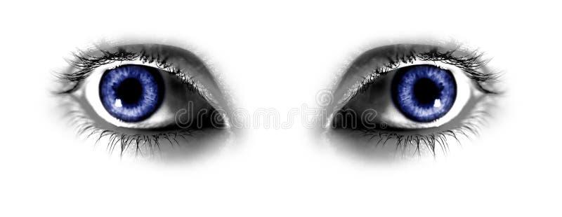 Zwei abstrakte blaue Augen lizenzfreie abbildung