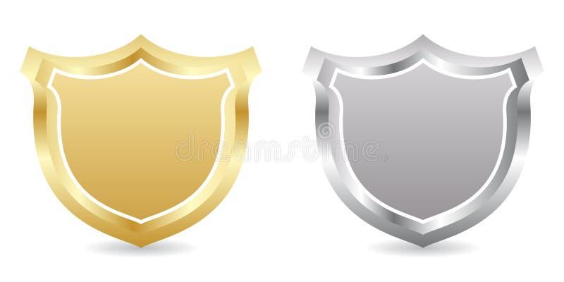 Zwei Abzeichen stock abbildung