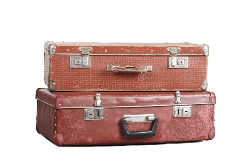 Zwei alte Koffer. lizenzfreie stockbilder