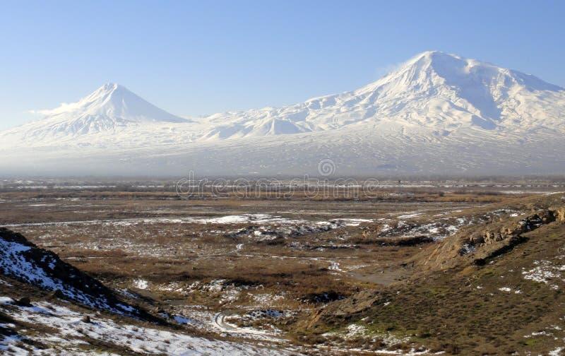 Zwei Ararat - zwei Schicksale lizenzfreies stockfoto