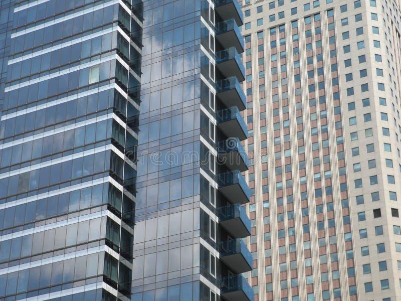 Zwei Bürogebäude in New York City stockfoto