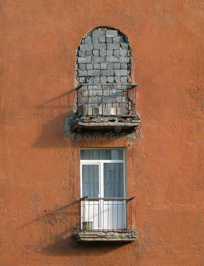 Zwei Balkone lizenzfreies stockfoto