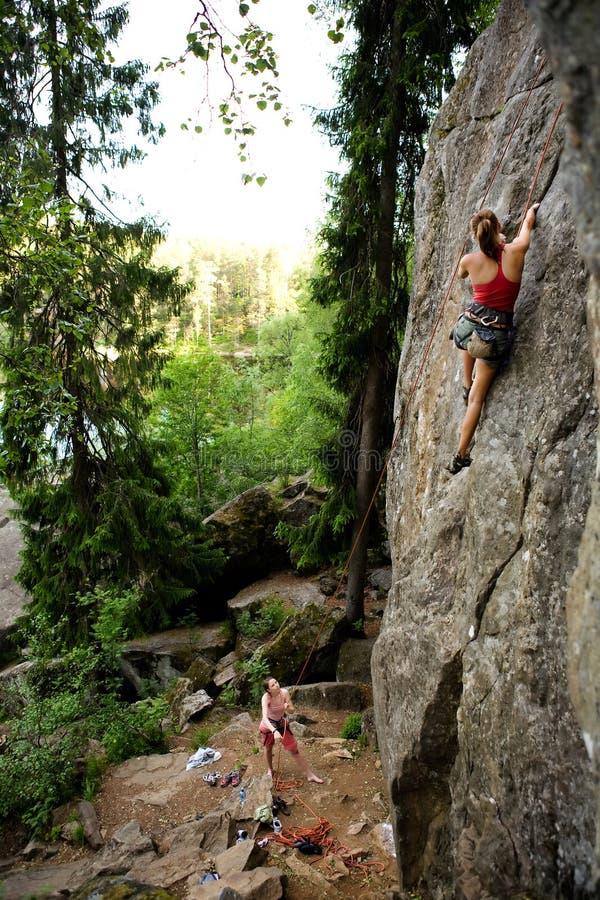 Zwei Bergsteiger lizenzfreies stockbild