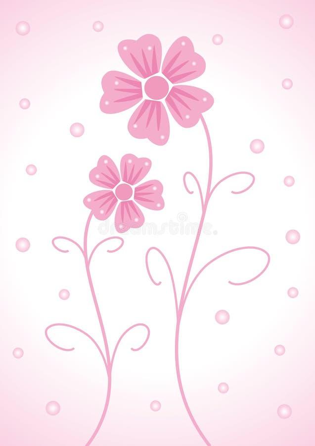 Zwei Blumen lizenzfreie abbildung