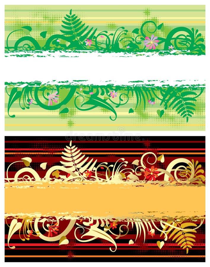 Zwei Blumenfahnen vektor abbildung