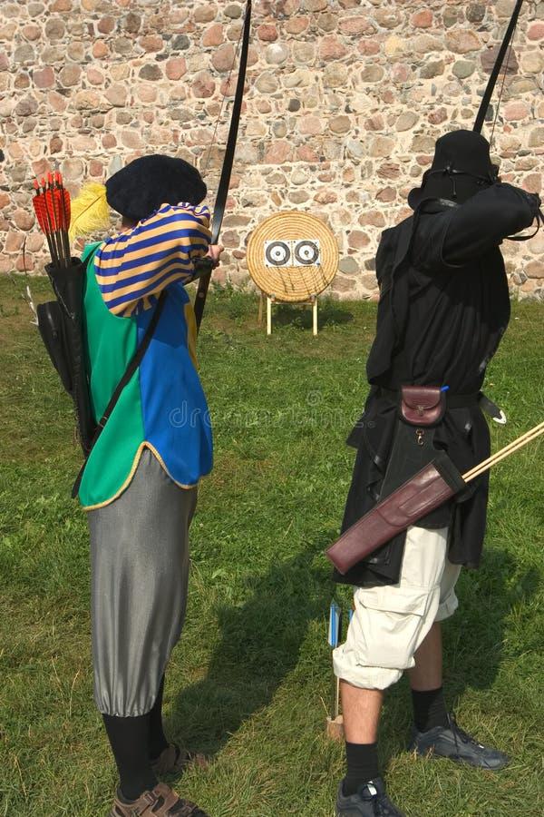 Zwei Bogenschützen. stockfoto