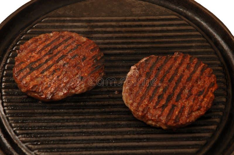Zwei Burger lizenzfreie stockfotos