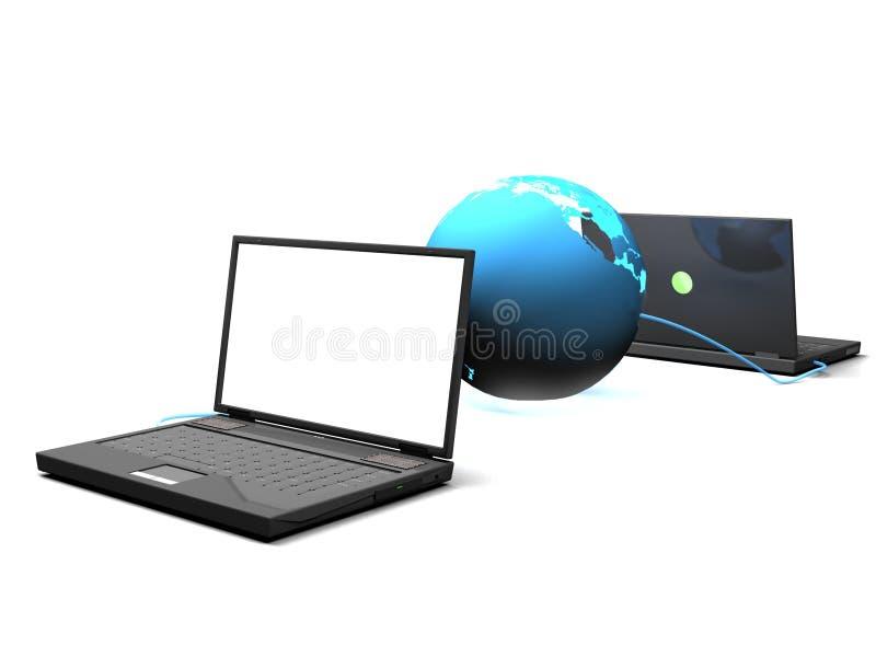Zwei Computer stock abbildung