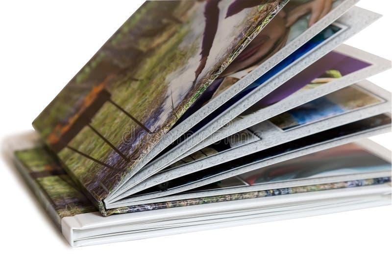 Zwei des Fotoalbums auf weißem Hintergrund lizenzfreies stockfoto